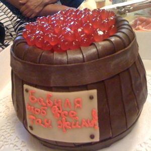 """Заказывала бабушке на юбилей. Особенно вкусной оказалась """"красная икра"""" сверху)))"""