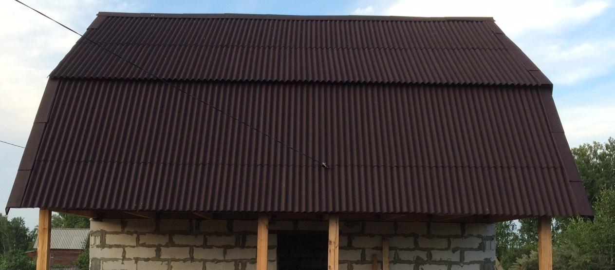 частности, коричневый профлист крыши фото открытом месте, коллоидный
