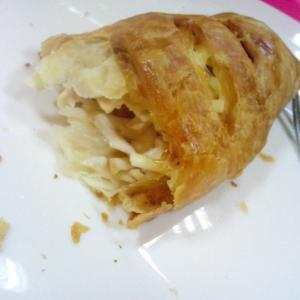 слойка с вечиной и сыром