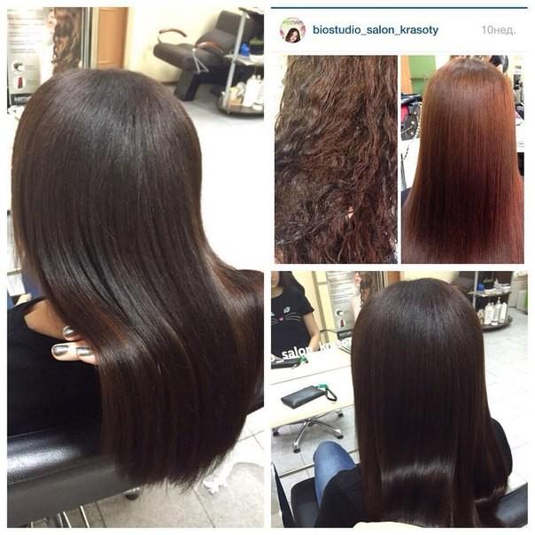 Кератиновое выпрямление волос результат