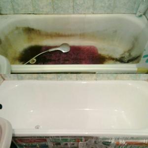Реставрация ванны жидким акрилом