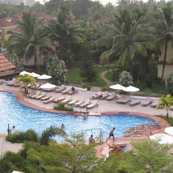 Вид из окна отеля в Южном Гоа