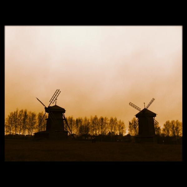 Деревянные ветряные мельницы