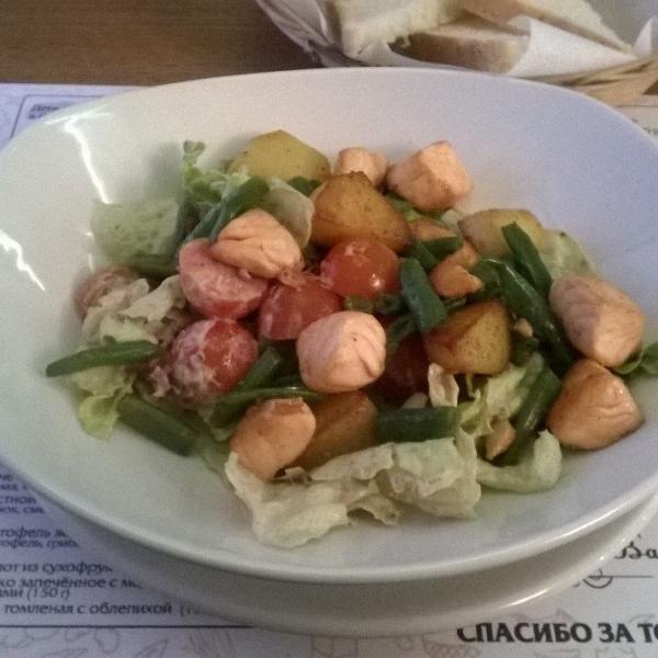 Тёплый салат, который я попробовала