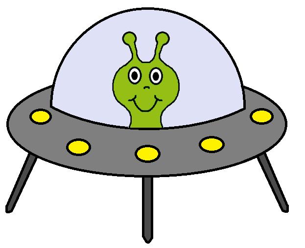alien spacecraft clipart - 623×507