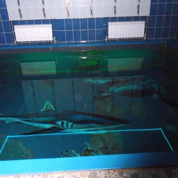 бассейн в малой сауне