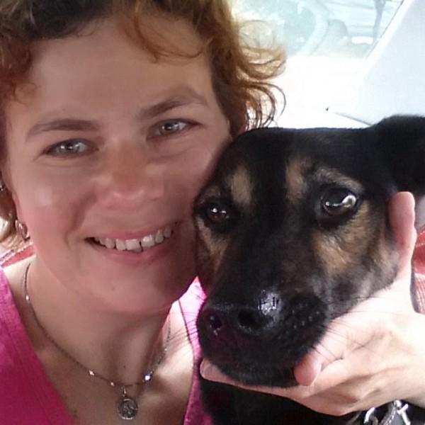 Я и мой любимый Мухтар, ему 4 года, бывшебездомный пес. Очень умный, веселый, общительный!