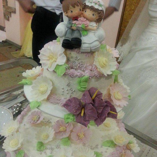 Наш вкусный свадебный торт!