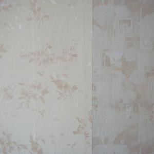 Слева обои на спальню(900 р. за метр. рулон). Справа обои на гардеробную (240 р. за метр. рулон)