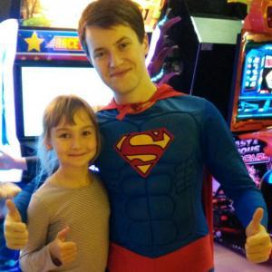 дочь с Суперменом, который просто СУПЕР! :)