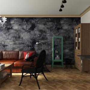 Интерьер квартиры в стиле индустриальный винтаж с мебелью из ИКЕА от VERONIKASTUDIO.