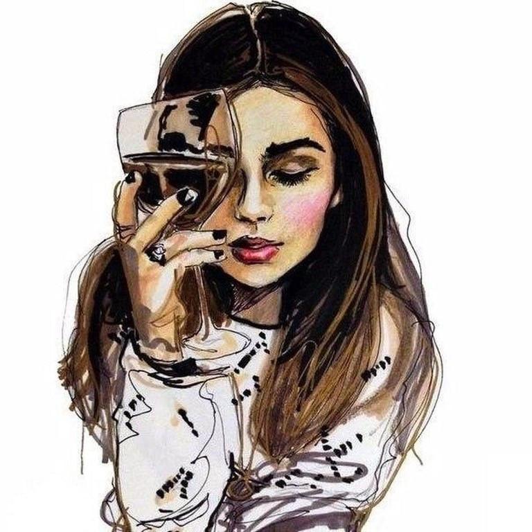 Картинки на аву в вк для девушек крутые без лица нарисованные