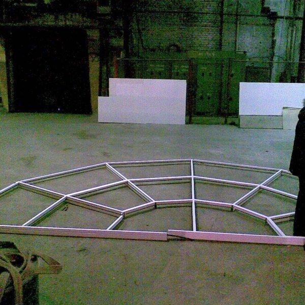 Изготовление арки сегментами на фасад здания железной дороги. 2009 год!