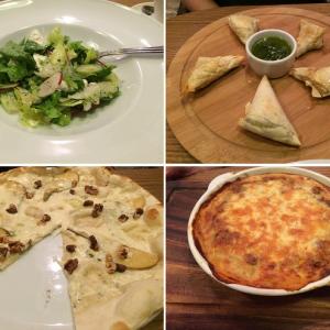 Зеленый салат, лазанья, слоеные конвертики и пицца!
