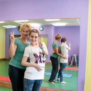 тренер Людмила с моей дочерью Соней.