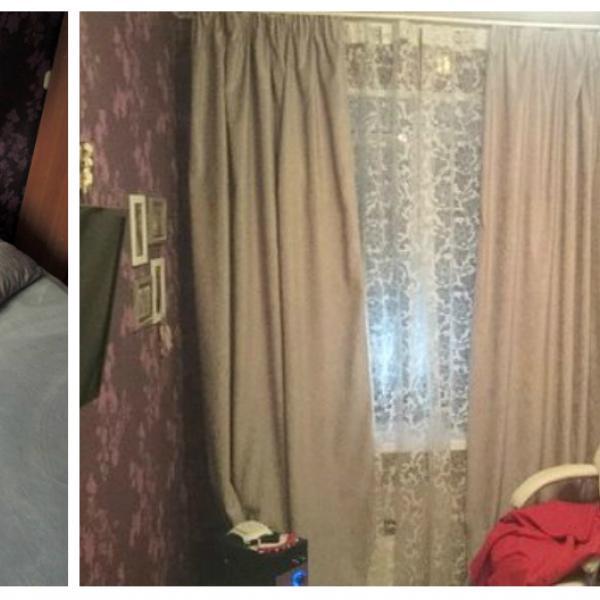 Бирюзовые наволочки, кровать, балдахин, белые навесные полки, тюль и дерево для украшений из Икеа