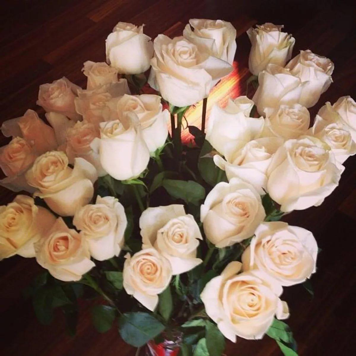 фото подаренных цветов днем знакомый