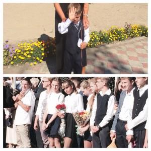 Два моих поколения: старшая и младший, которого 1 сентября уже слегка достали с фотосессиями)))