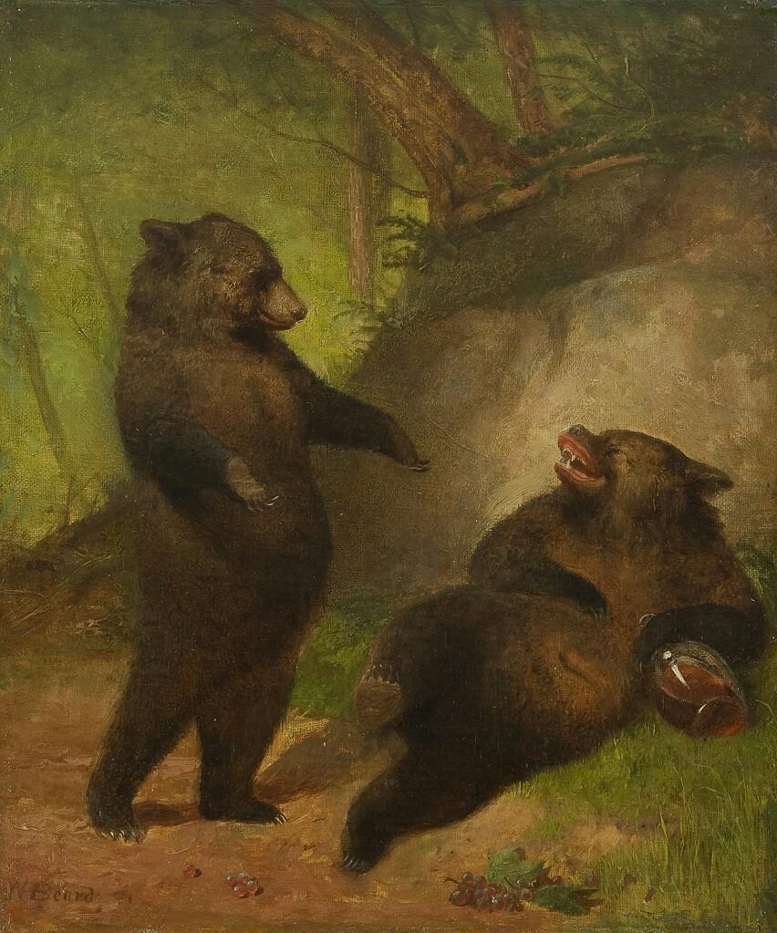 Бабушке день, картинка с медведями сегодня не пьем