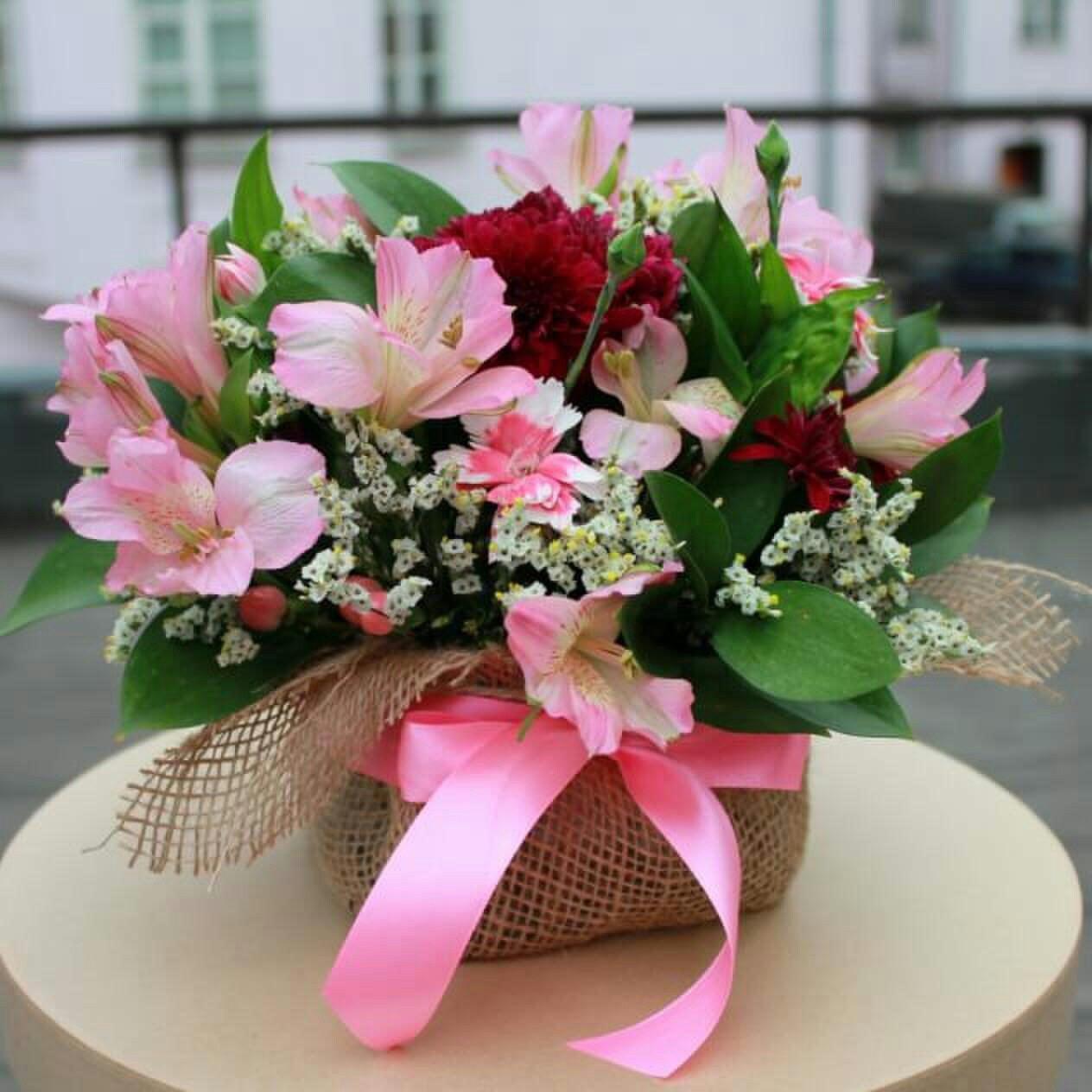 Купить цветы в флористической губке, начинающих
