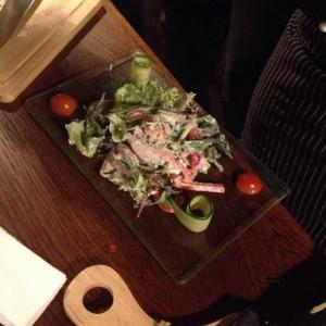 Мой победный салат, подготовка к подаче и украшение =)