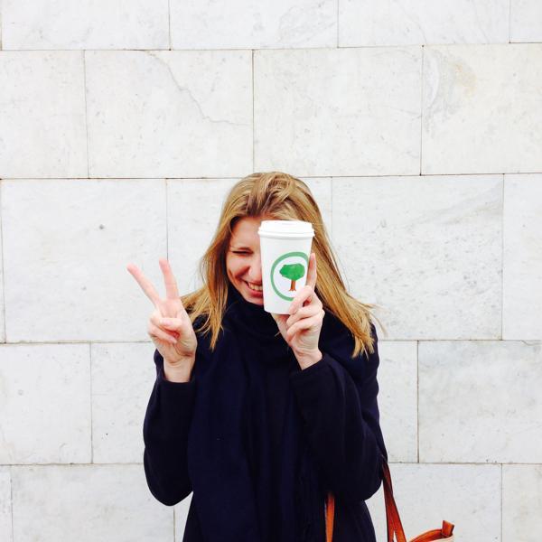 Счастливый обладатель кофе :)