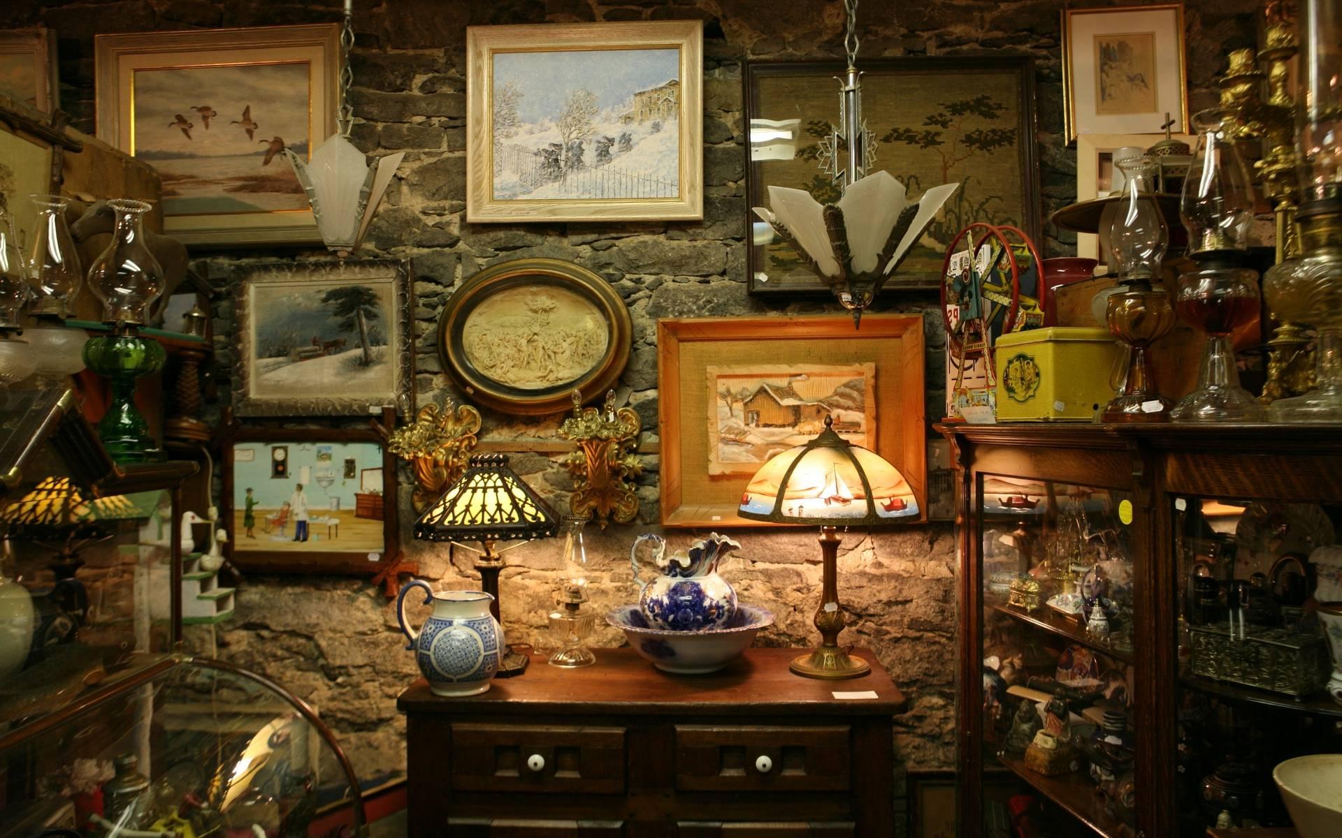 Баню, антикварный магазин картинки