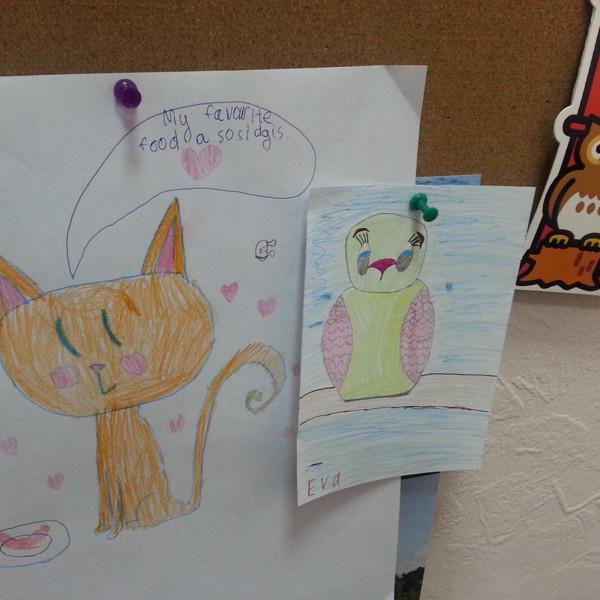 Подарки от наших маленьких учеников (английский язык).