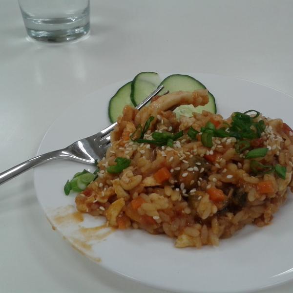"""Тайский рис с морепродуктами. Мастер-класс """"Тайская кухня""""."""