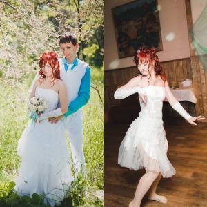 Платье-трансформер для нашей задумки танца )))