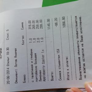 от суммы 1145 скидка в размере 15% должна была составить 171.75 а по чеку 88.20