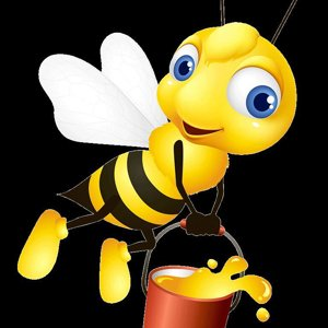 busybee on the candy-floss
