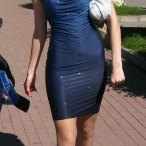 Космическое платье, блестящее на солнце и при луне.