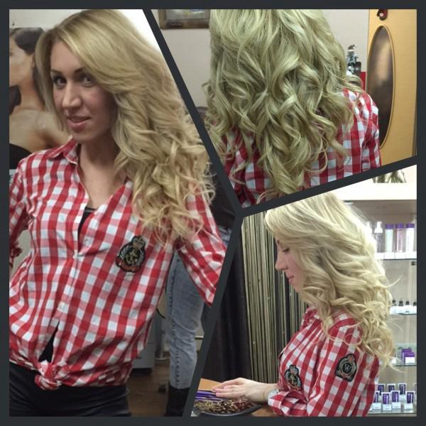#наращивание волос и укладка