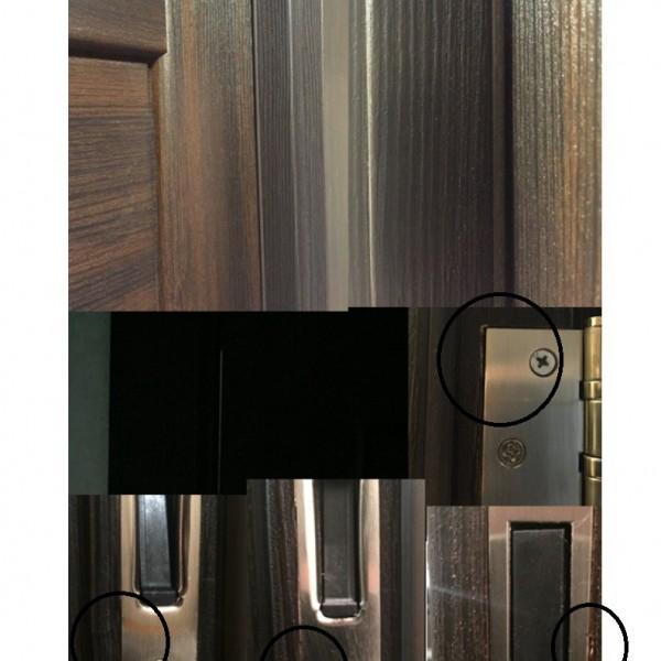 дверь не касается уплотнителя, просвет, дефекты монтажа.