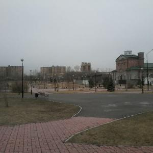 Вид парка в апреле....