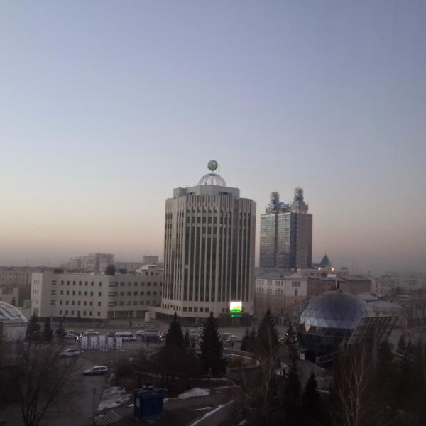 Вид из окна новосибирского Хилтона