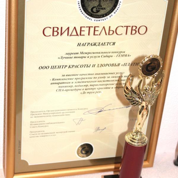 Мы получили золотую статуэтку Гемма-2014!