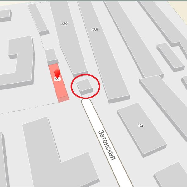 Адреса на карте нет. Отмечен просто как гараж.