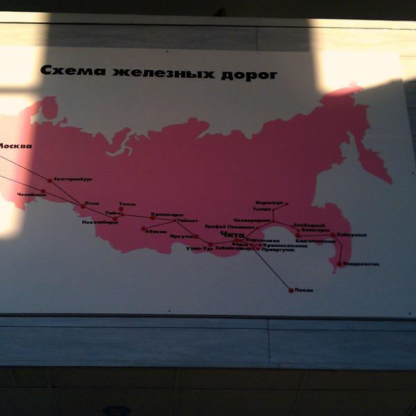 Два самых главных города в России на карте