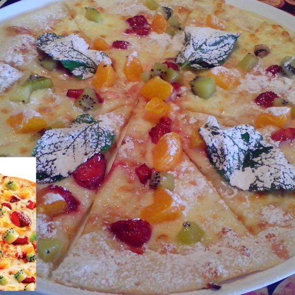 Пицца фруктовая в меню и в жизни :)