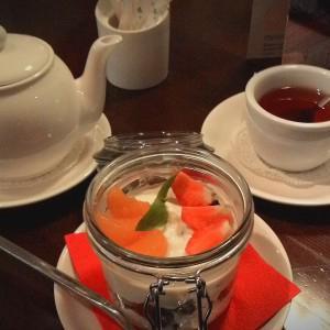 """Чай """"Малина с мятой"""" и десерт """"Римские каникулы"""""""