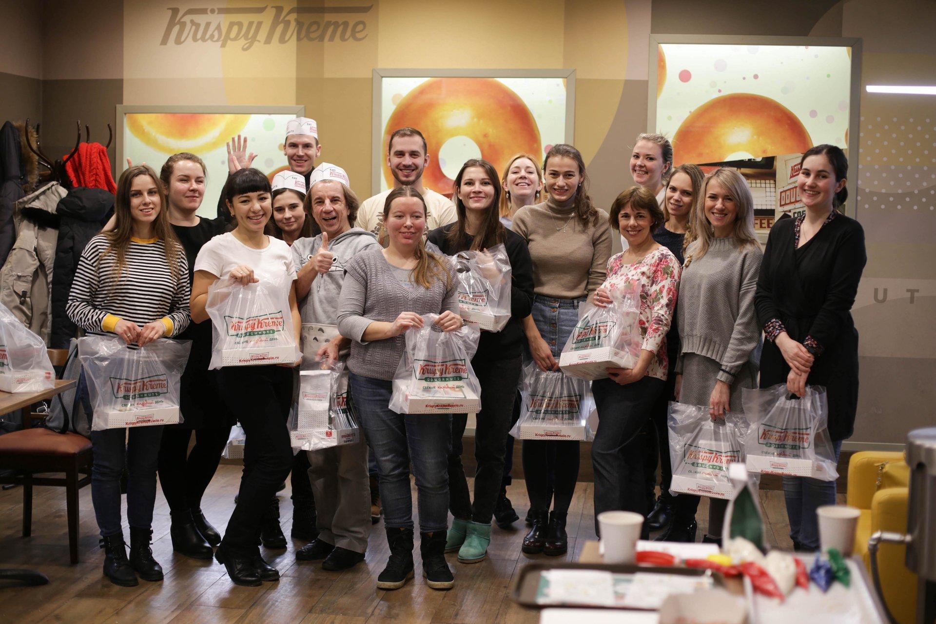 Как мы дегустировали пончики в Krispy Kreme