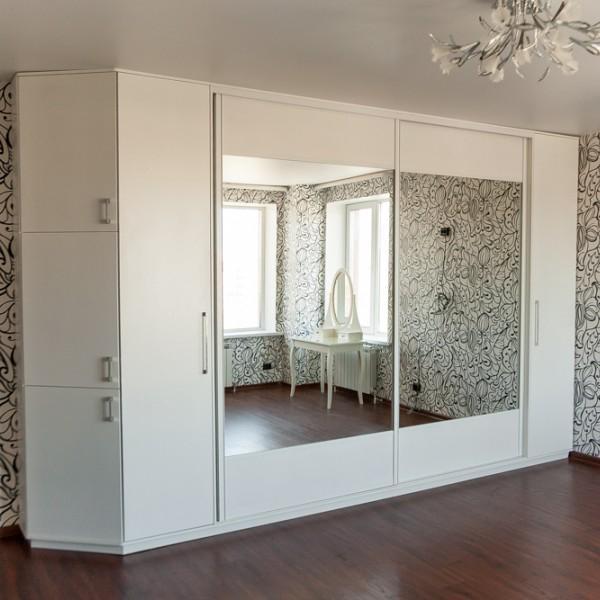 шкаф в спальню, фасады крашеный мдф (матовый)