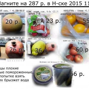продукты на 287 р. в Магните на Менделеева, 10