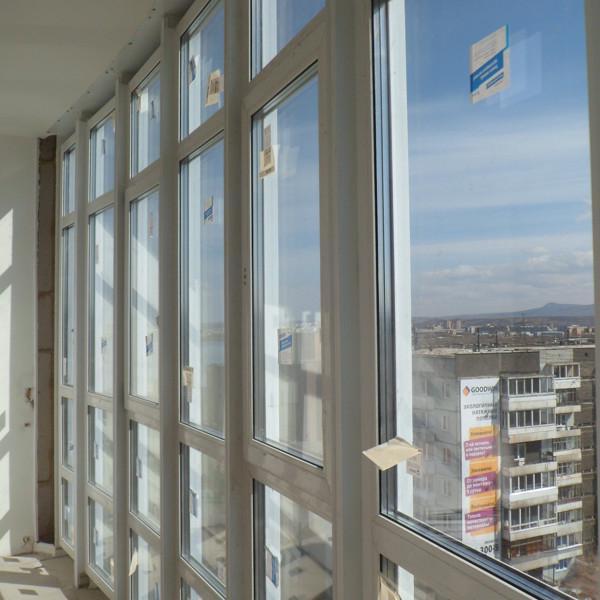 Встроенный теплый пвх балкон в витраж из Ал. 2014 год