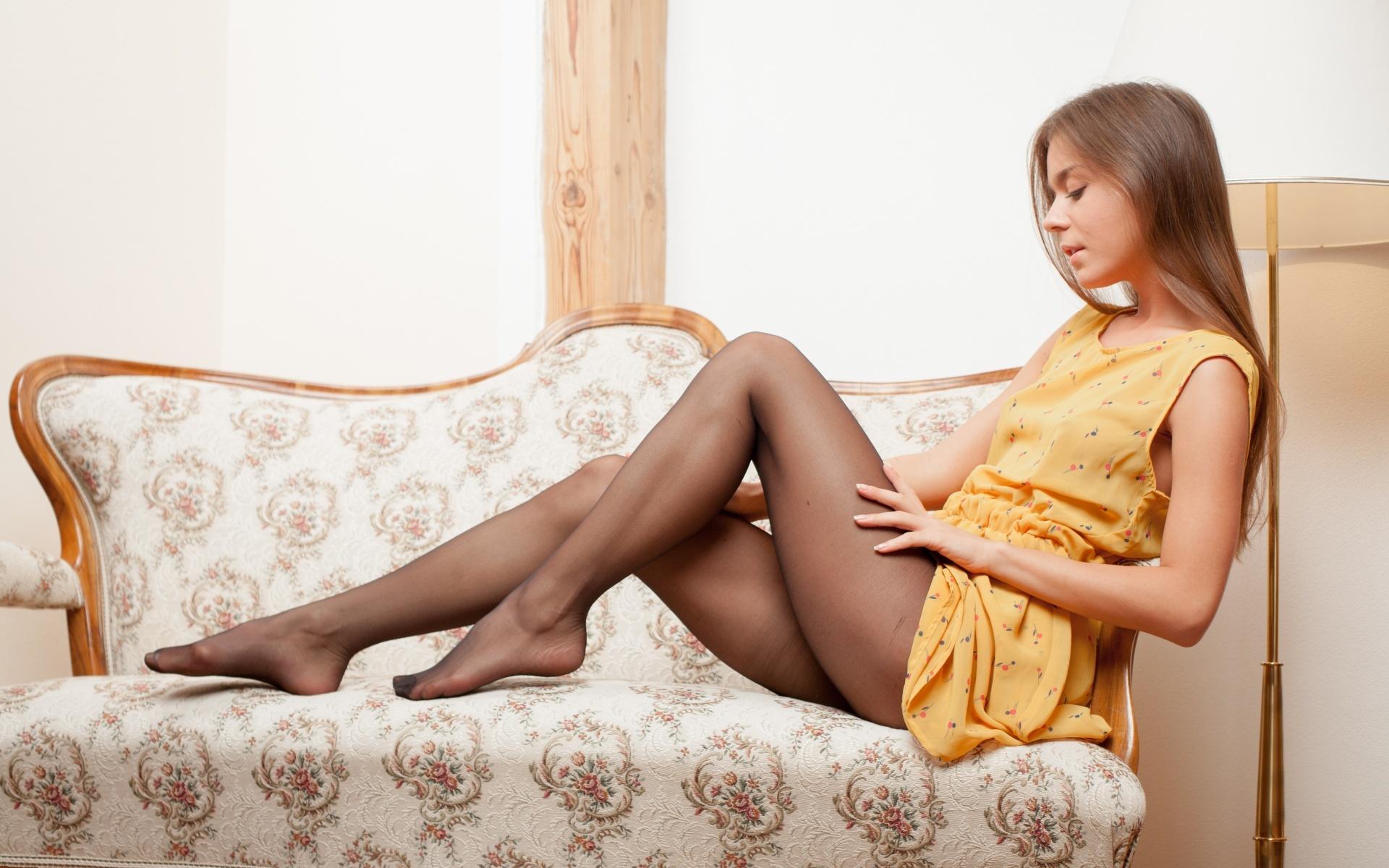 Секс девочек в чулках