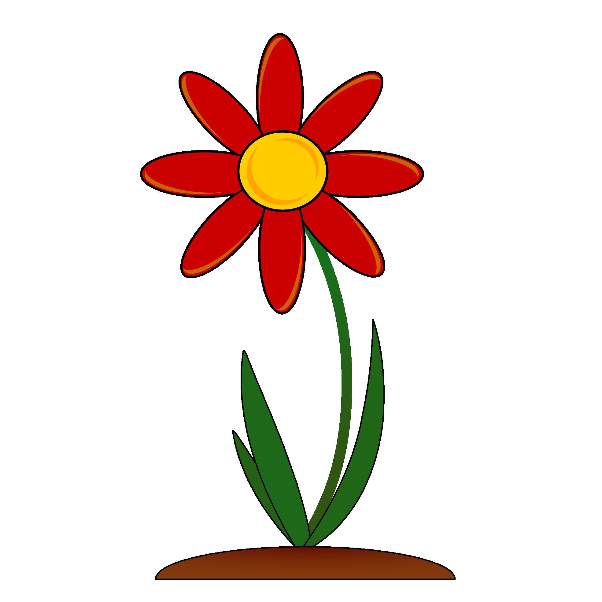 Картинки рисованные цветочек