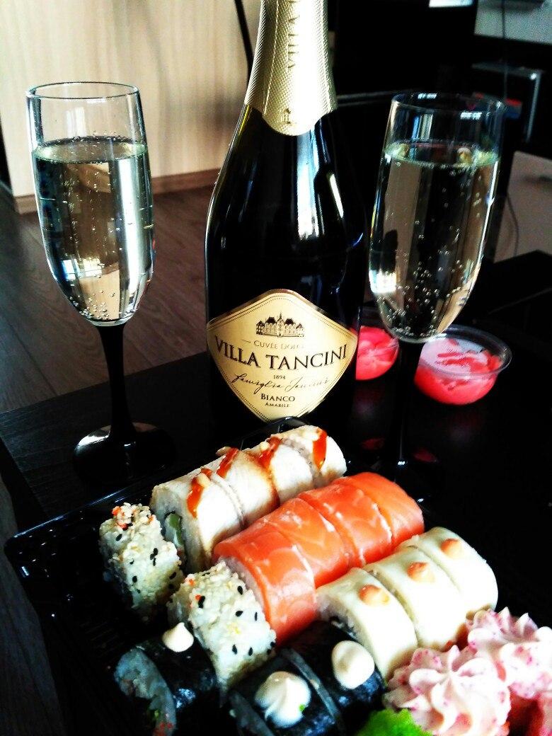 Вино и суши картинки