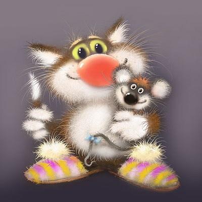 Открытки с мышка и кот, открытки вырезанные бумаги
